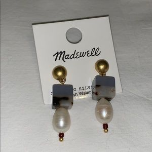 Decorative Earrings with Fresh Water Pearls